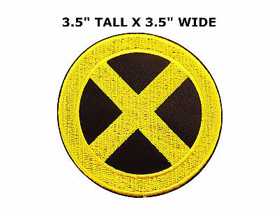X-men Yellow X Logo Embroidered Patch Marvel Comic Villain Xavier School Cyclops