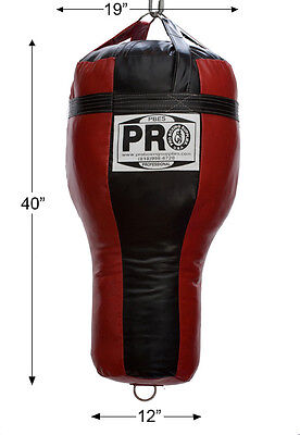 PRO BOXING Supplies Angled Heavy Punching Bag, Muay Thai, MMA (unfilled) Rd blk
