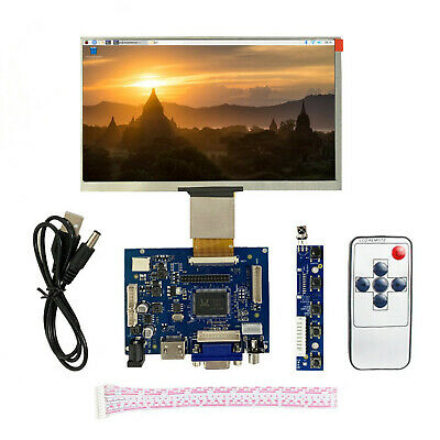 7 inch LCD Screen Display Monitor for Raspberry Pi + Driver Board HDMI/VGA/2AV