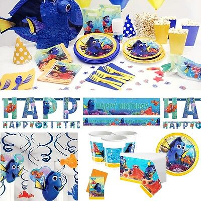 Finding Dory Birthday Party Favors Nemo Tableware Plates Cups Invites Banners