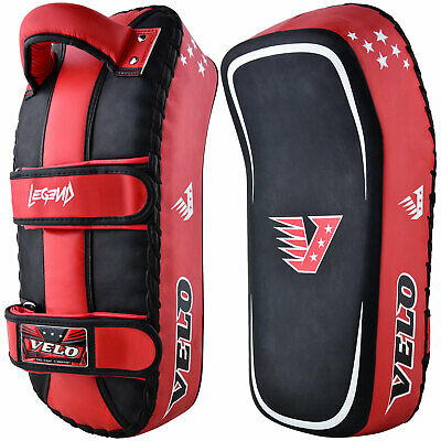 VELO Curved Arm Pad Thai Kick Boxing Strike Shield Mitts MMA Focus Muay Punch