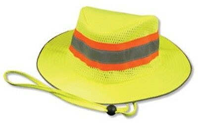 NEW Safety Yellow Reflective hi vis Boonie Hat Bucket cap Construction Landscape