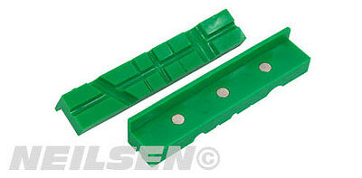 """NEILSEN Tools 6"""" Multi-groove TPU Magnetic Bench Vice Vise Jaw Pads, NEW ct4202"""