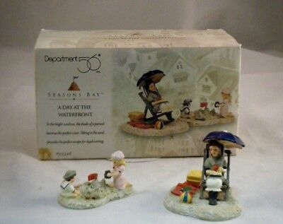 "NEW IN Box Retired Department 56 Seasons Bay ""A Day At The Waterfront"""