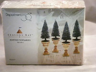 NEW In Box Retired Department 56 Seasons Bay Potted Topiaries