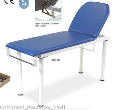 Bristol Maid Two Section, Fixed Height Examination Couch EC005 / BB - blue bed