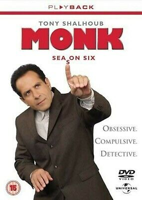 MONK COMPLETE SERIES 6 DVD Box Set Season New and Sealed 6th Sixth UK R2