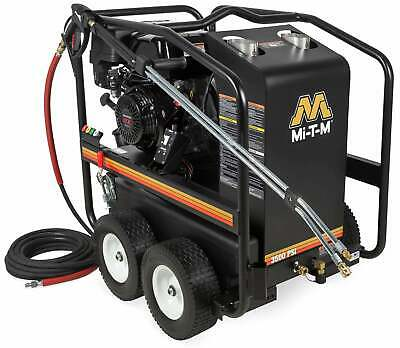 Mi-T-M HSP-3504-3MGH Portable Gas Engine Hot Water Pressure Washer 3500 PSI