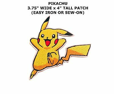 PIKACHU POKEMON GO EMBROIDERY IRON ON PATCH BADGE US Seller
