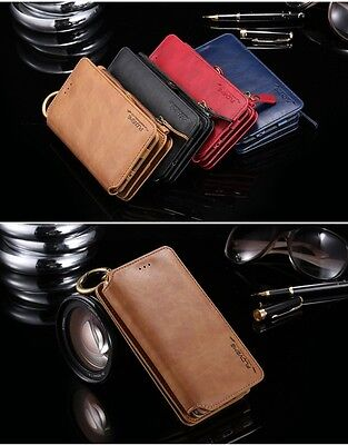 Luxury Genuine Leather Flip Wallet Phone Case Cover For iPhone 5/6/7/8/x Samsung