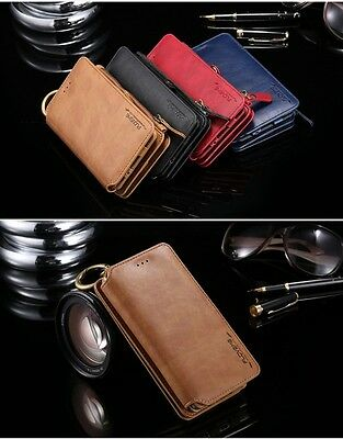 Luxury Genuine Leather Flip Wallet Phone Case For iPhone 5/6/7/8/x Samsung s8/s9