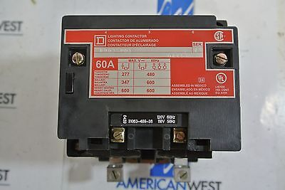 Square D 8903SPO1V02 Electricaly held Lighting Contactor 120 V coil open NIB