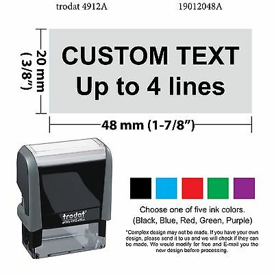 Trodat 4912 Self-inking Rubber Stamp,Custom For Deposit Only Stamp