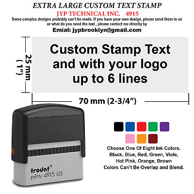 Extra Large Trodat 4915 Self-inking Rubber Stamp, Custom Text Up To 6 Lines