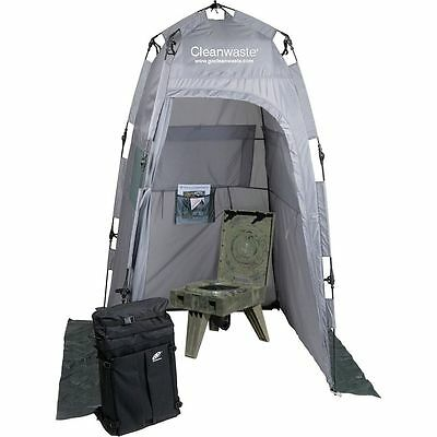 Cleanwaste Go Anywhere Complete Portable Toilet System Camo One Size