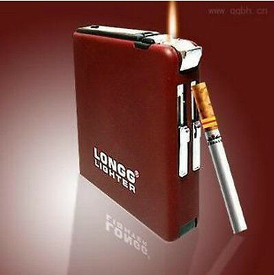 20 automatic with windproof lighters Creative ultra-thin male cigarette case