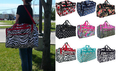 "19""/22"" Women Fashion Print Duffle Bag Gym Dance Cheer Travel Overnigh Carry On"