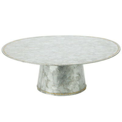 NEW Industrial Luxe Galvanised Iron Cake Stand
