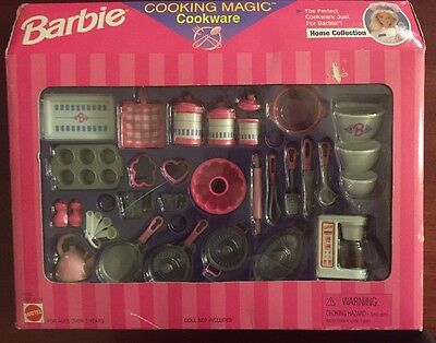 Barbie Cooking Magic Cookware 1997 Home Collection NEW