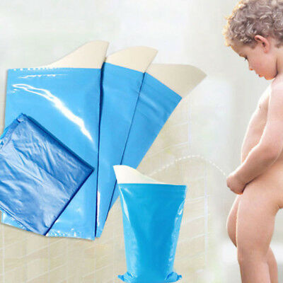 Male Female Kids Portable Camping Car Travel Pee Urine Toilet Bag-Blue