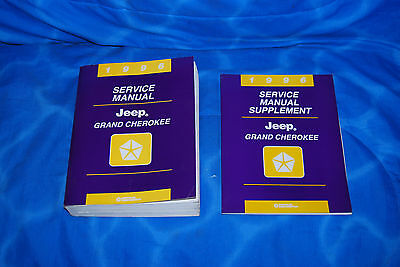 1996 Jeep Grand Cherokee Factory Service Shop Repair Manual Lot