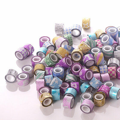 New 20/40/60 Roll DIY Mini Glitter Washi Paper Tape Adhesive Decor Craft Sticker