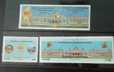 Mint Myanmar Burma stamps  63rd and 65th independence day