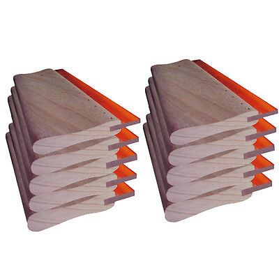 """10pcs Screen Printing 9.4"""" Oiliness Squeegee Ink Scraper 24cm Hand Tool"""