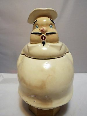 Vintage Very Rare The Pfaltzgraff Company Chef Cookie Jar #1