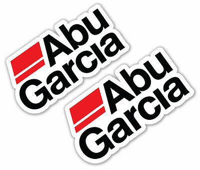 ABU GARCIA Stickers x 2 @ 20cm Wide Boat Fishing Tackle Graphics Decals