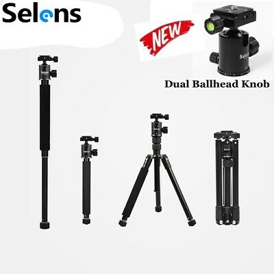 Professional 2in1 Travel Tripod &Monopod Metal Ball Head For Digital Camera DSLR