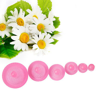 6Pcs Daisy Flower Fondant Cookie Cutters Mould DIY Cake Decorating Baking Tools