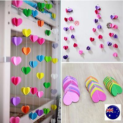 4M Paper Heart Wedding Birthday Party Baby Kids Room Hanging Decorations Garland