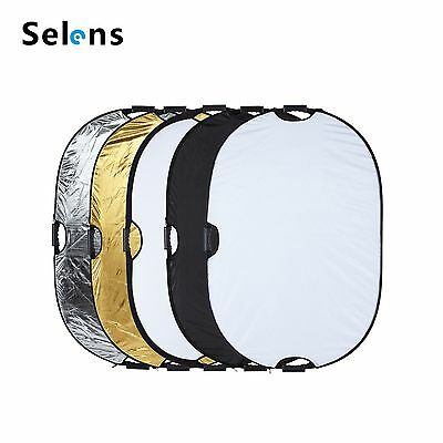 """Selens 80x120cm 5in1 Mulit Collapsible Portable Light Photo Reflector 32x48"""" US"""