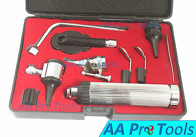 ENT Ophthalmoscope &Otoscope Diagnostic Set, Ear,Nose &Throat Set With Hard Case