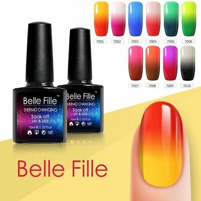 BELLE FILLE Temperature Mood Color Change Nail Gel Polish Soak-off Chameleon UV
