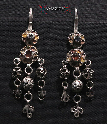 Old Large Berber Earrings - Ouarzazate Region, Morocco