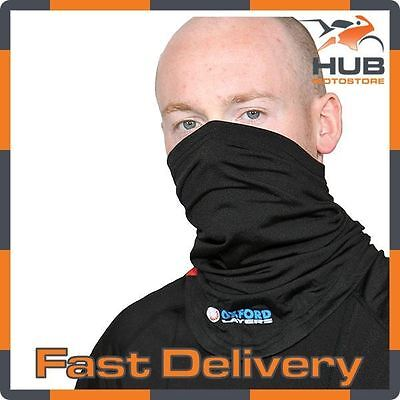 Oxford Layers Warm Dry Motorcycle Motorbike Thermal Base Layer - Neck Tube