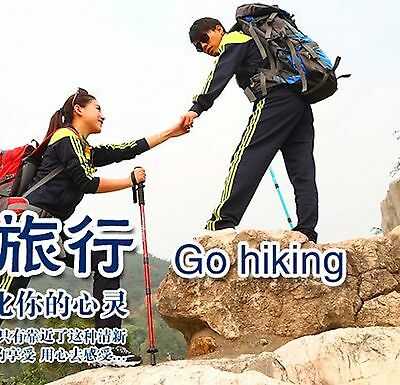 1 or 2 Gold Foldable Walking Hiking Travel Climbing Stick, Parents Birthday Gift