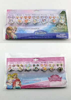 7PC Disney Frozen OR Princess Kid Girl Child Rings Birthday Party Favor gift