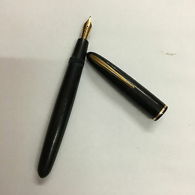 ancien stylo plume Excelsior Fountain Pen plume or 18 CT