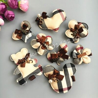 10pcs/lot Dog Hairpin plaid flower/crown mickey mix Pet Bow Puppy cat Hair Clips