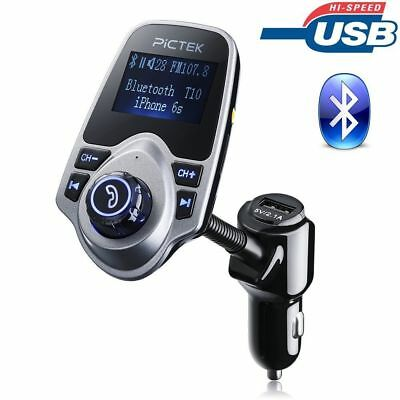 FM Transmitter Hands-free Bluetooth Car Kit Charger with USB