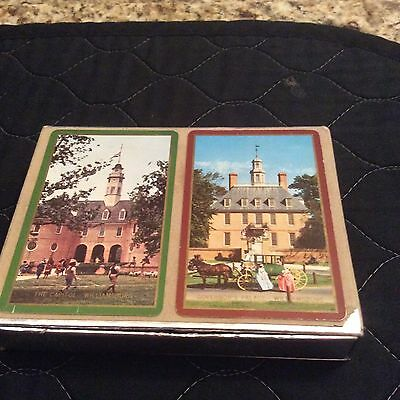 Vintage Congress Playing Cards WILLIAMSBURG Themed COMPLETE 2 Decks