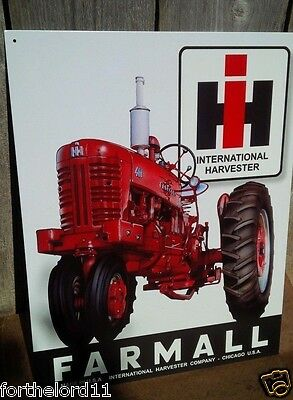 FARMALL International Harvester Tractor Tin Metal Sign Wall Garage Barn Classic