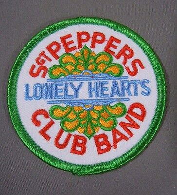 """The BEATLES-Sgt PEPPERS Lonely Hearts Club Band Embroidered Iron-On Patch - 3"""""""