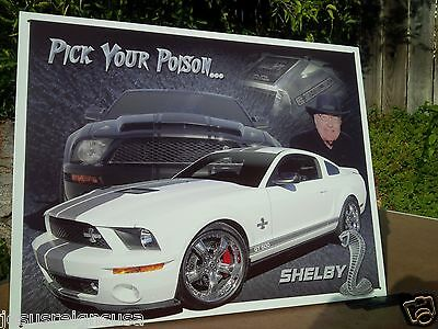 SHELBY COBRA GT500 Mustang Collectible Tin Metal Classic Sign Poster Garage