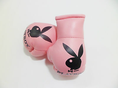 Playboy Pink Mini Boxing Gloves For The Rear View Mirror Of Your Car .