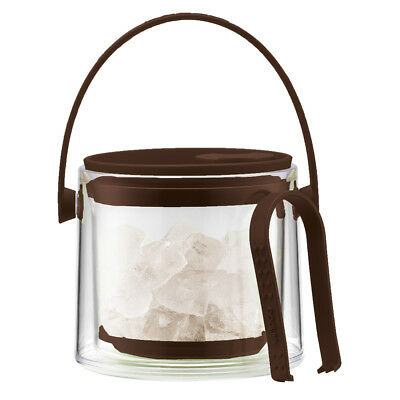 NEW Bodum Cool Brown Ice Bucket with Tongs 1.5L