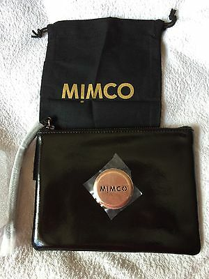 Free Shipping MIMCO Medium Pouch Genuine black Leather Wallet
